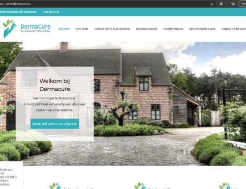 Nieuwe website voor dermacure.eu