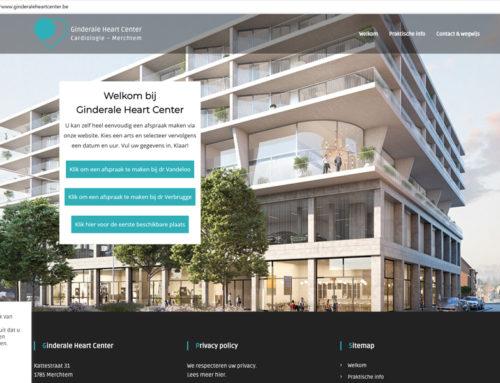 Nieuwe website voor ginderaleheartcenter.be