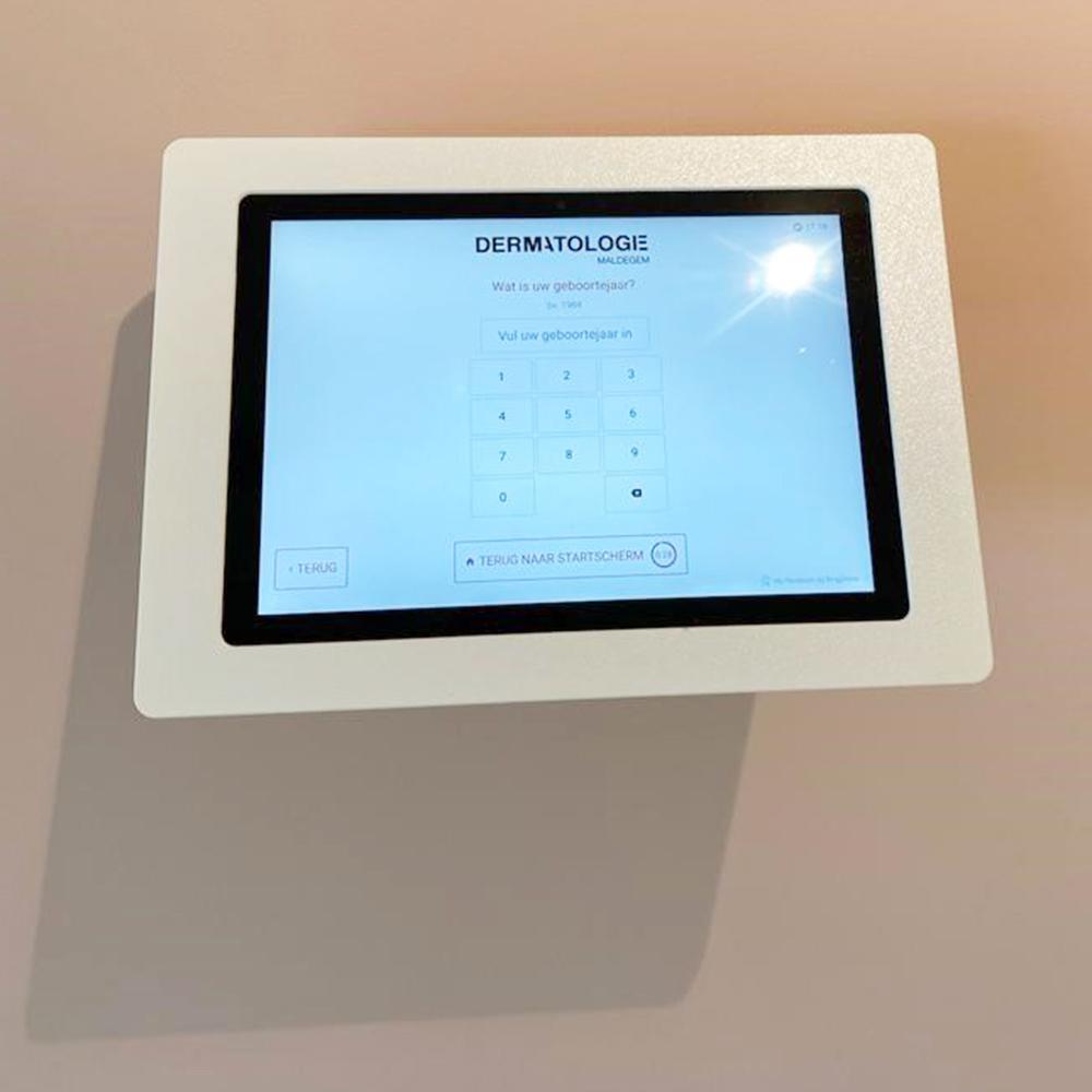 Aanmeldscherm en wallboard