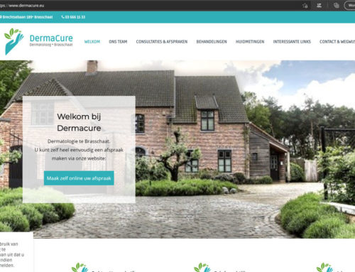 New website for dermacure.eu